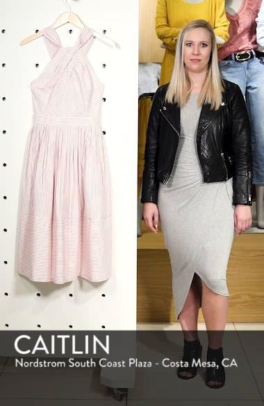 Claire Stripe Halter Dress, sales video thumbnail