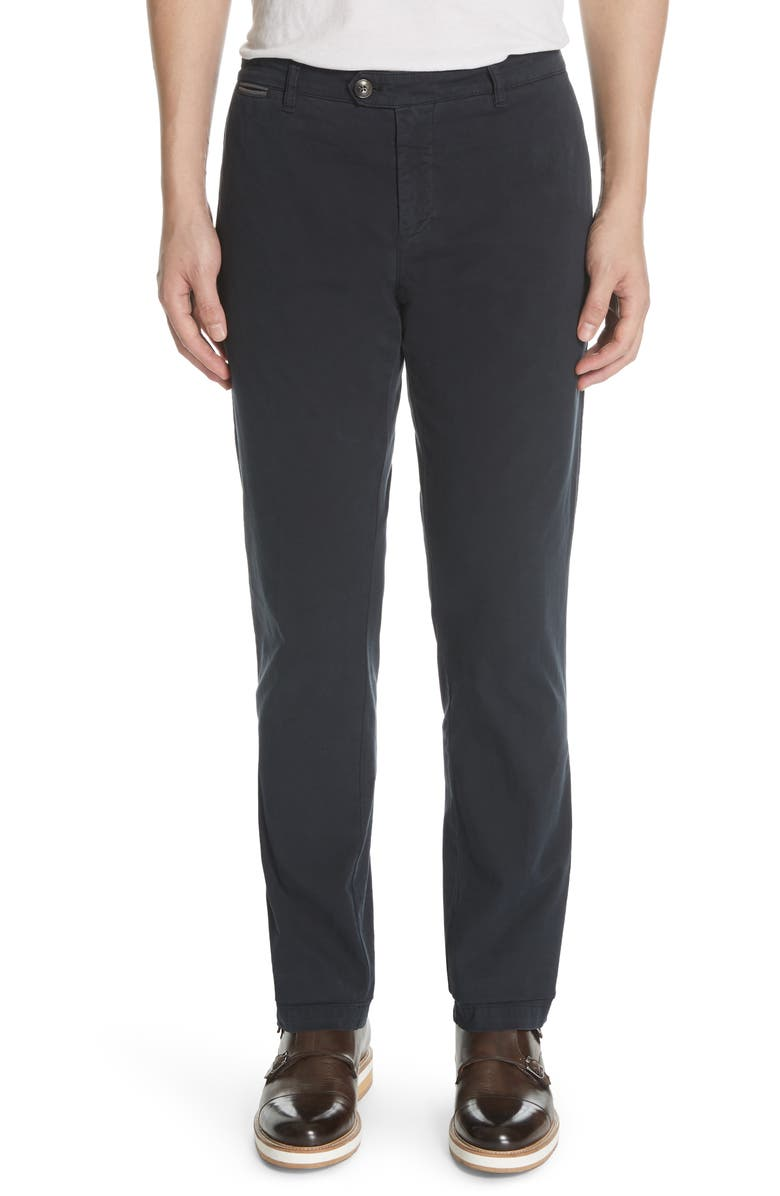 ELEVENTY Slim Fit Chino Pants, Main, color, NAVY