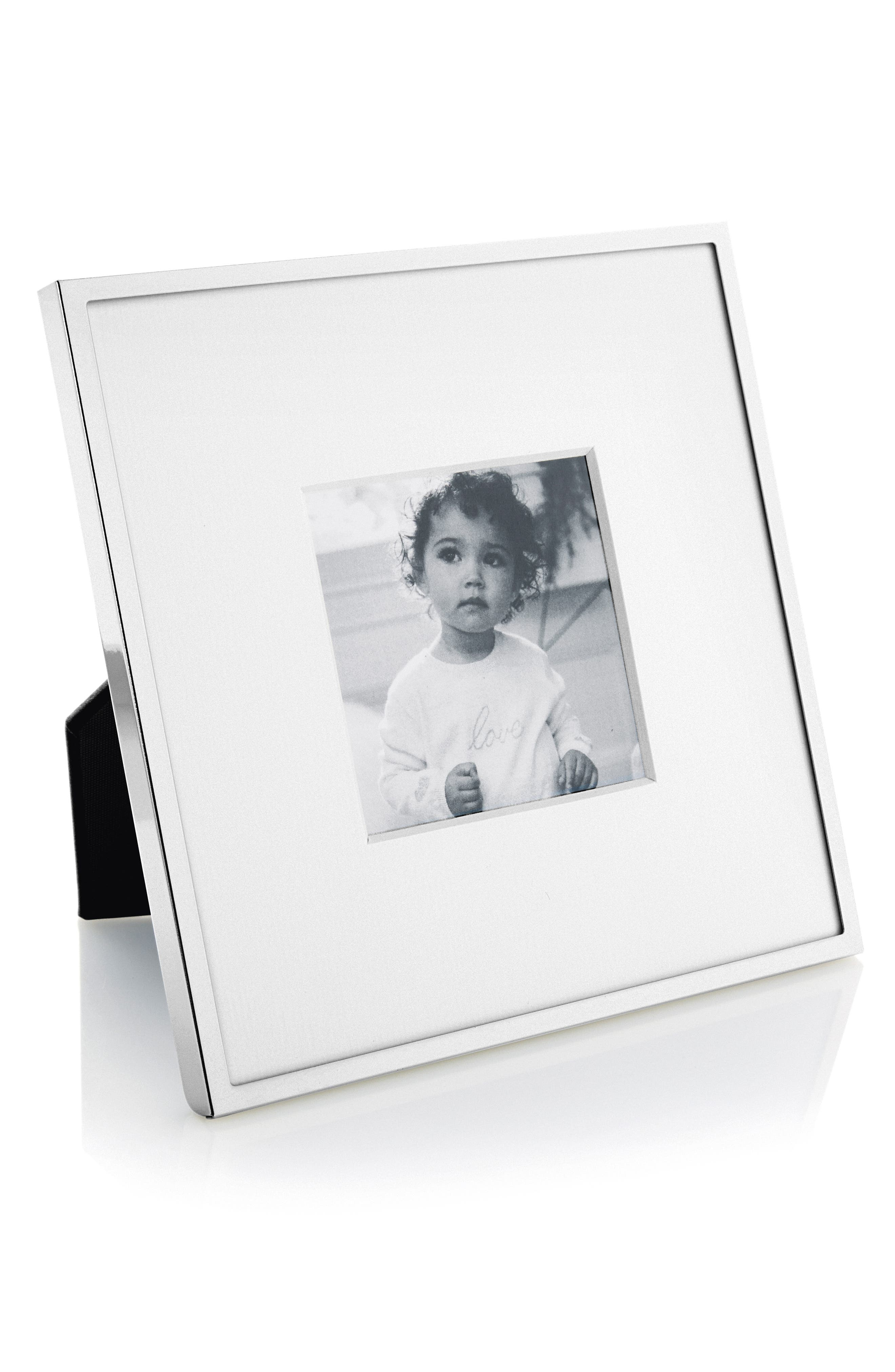 ,                             Fine Silver Plated Picture Frame,                             Main thumbnail 1, color,                             SILVER