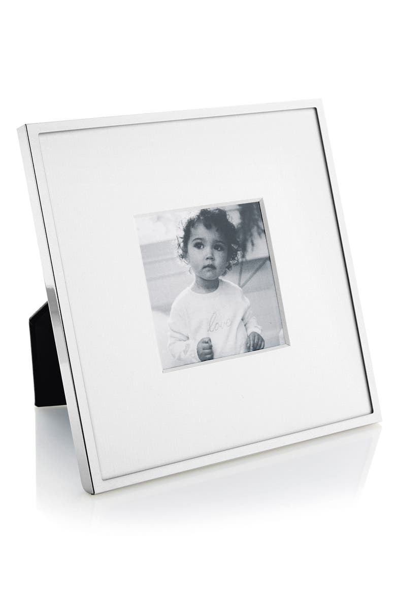 THE WHITE COMPANY Fine Silver Plated Picture Frame, Main, color, SILVER
