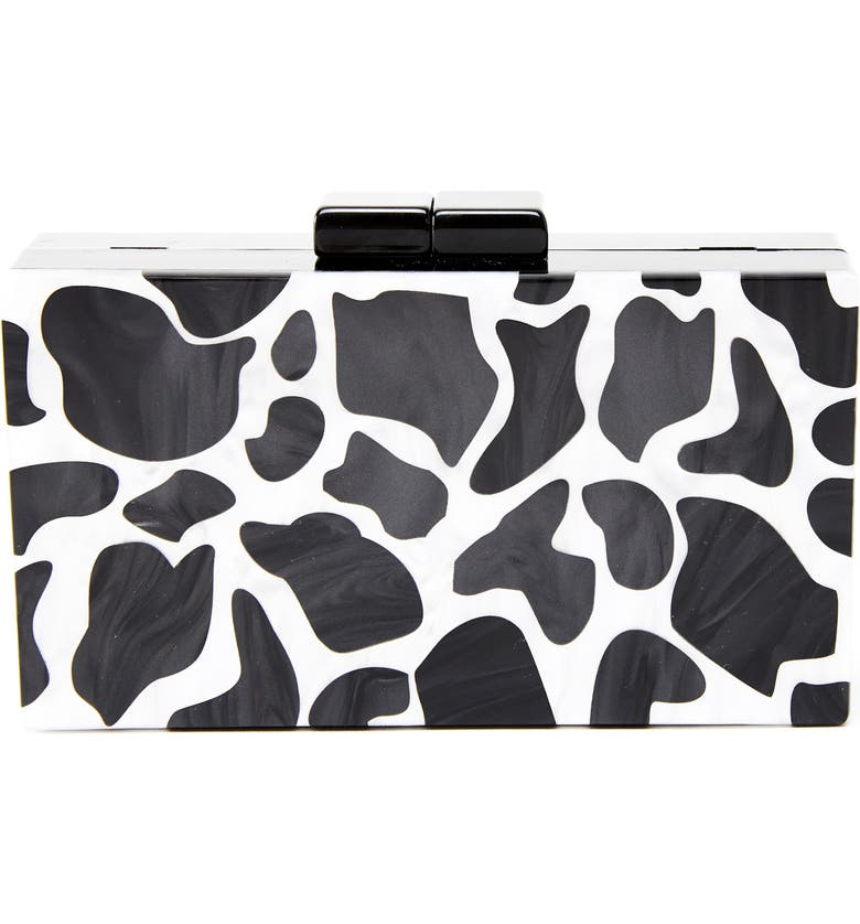 LIKE DREAMS Geo Box Clutch, Main, color, 001