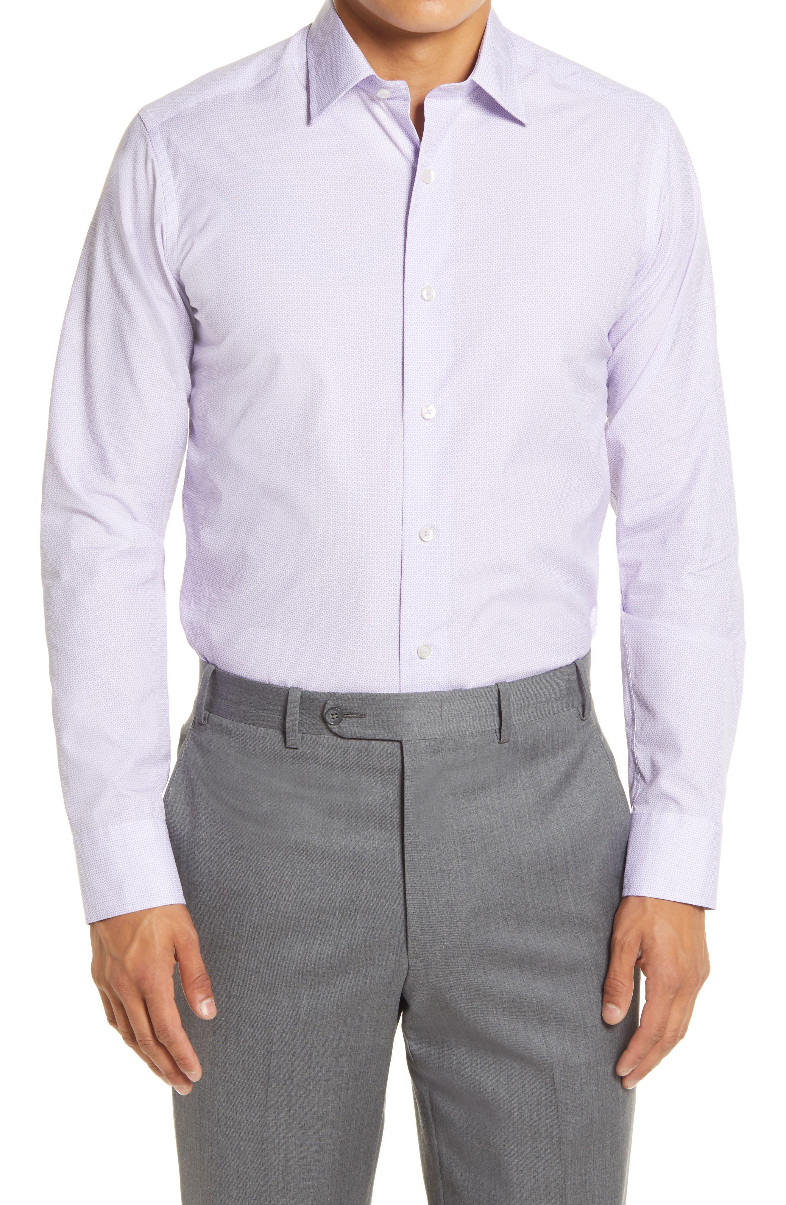 Slim Fit Geo Print Dress Shirt