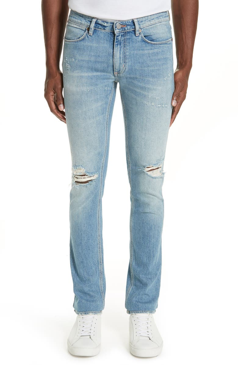 ACNE STUDIOS Max Ripped Slim Fit Jeans, Main, color, BLUE