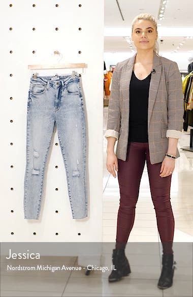 Good Waist Ripped Crop Skinny Jeans, sales video thumbnail