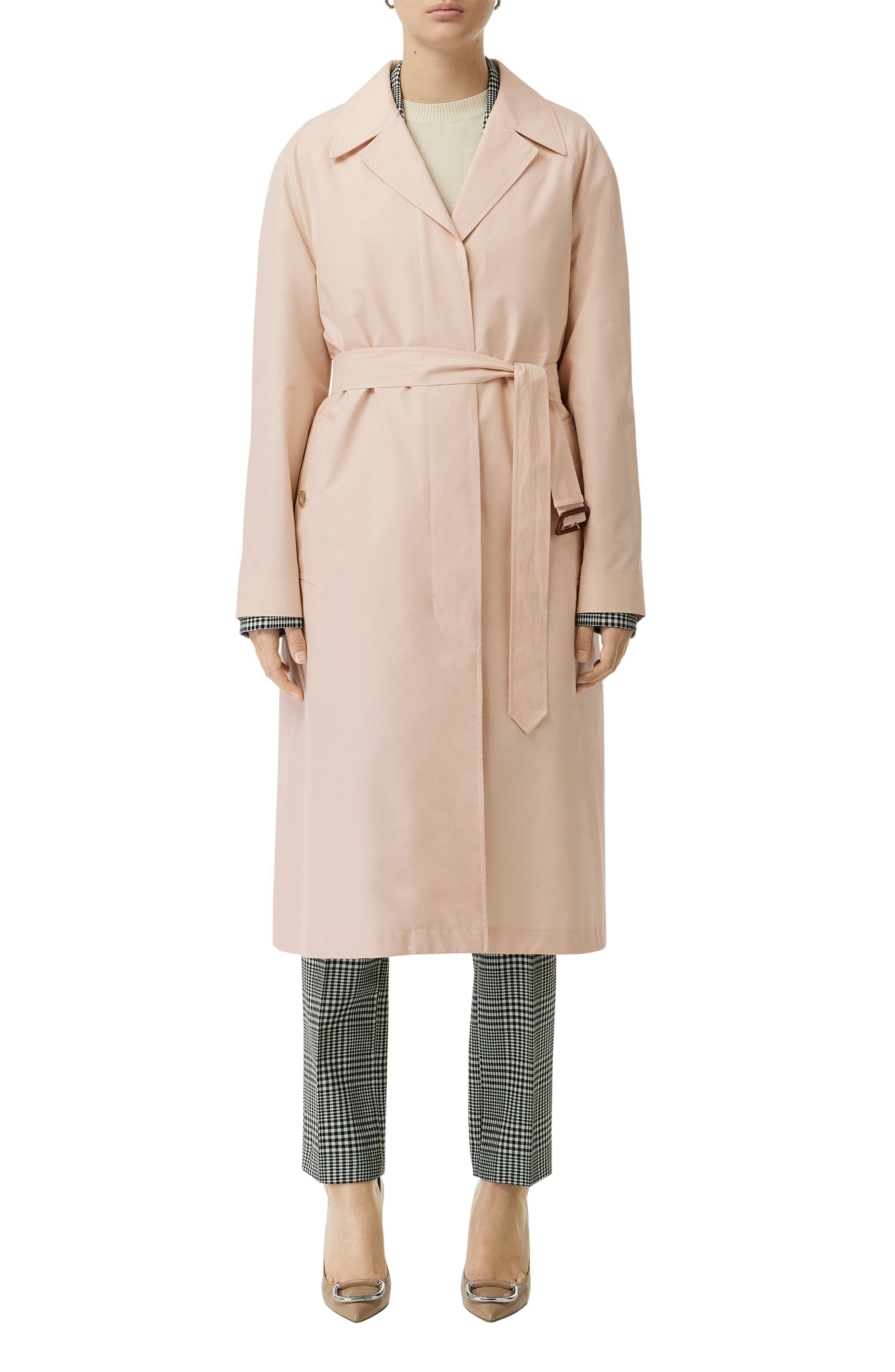 ,                             Edenderry Trench Coat,                             Alternate thumbnail 5, color,                             CHALK PINK CHECK