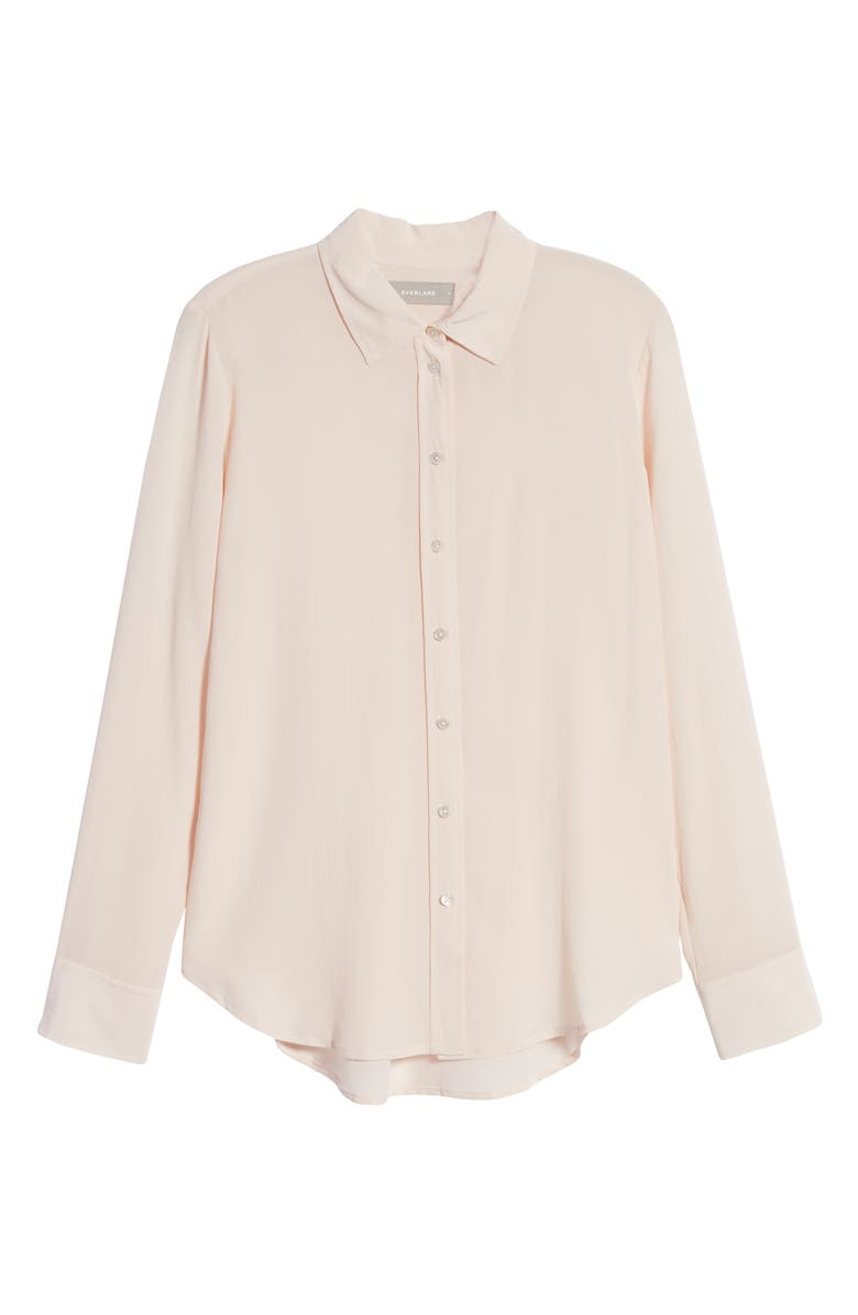 EVERLANE The Clean Silk Relaxed Shirt, Main, color, POWDER PINK