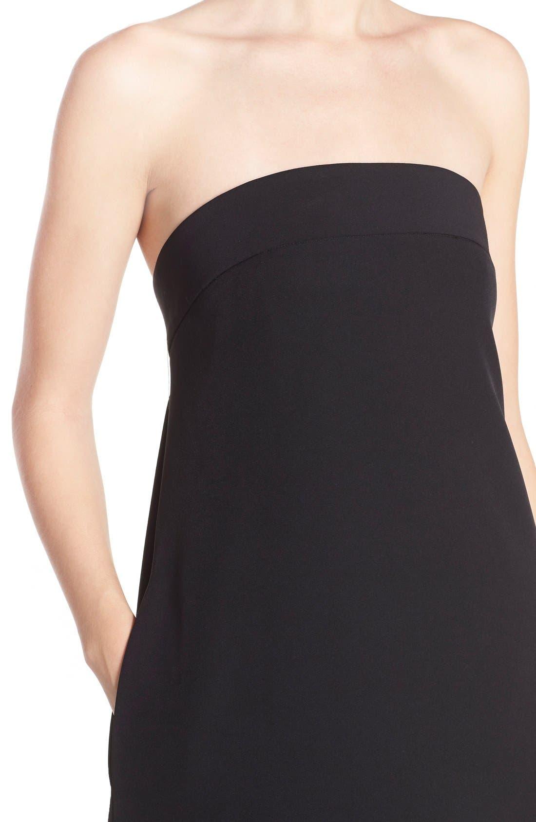 ,                             'Vanessa' Strapless Maxi Dress,                             Alternate thumbnail 3, color,                             001