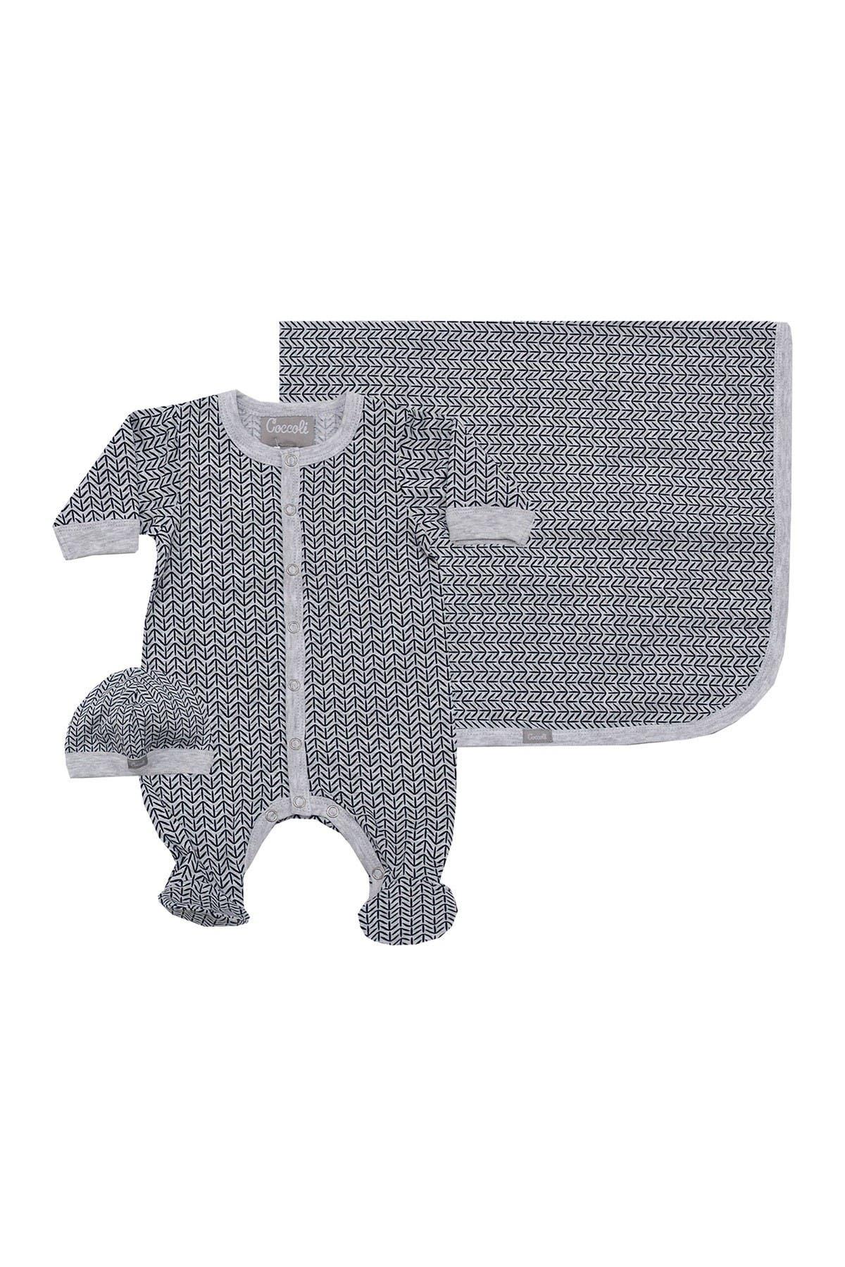 Image of Coccoli Footie Bodysuit, Cap, & Blanket Set