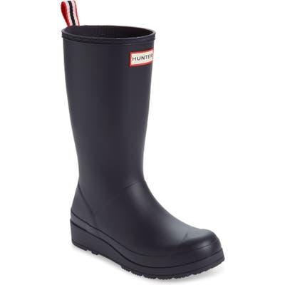 Hunter Original Play Tall Waterproof Rain Boot, Purple