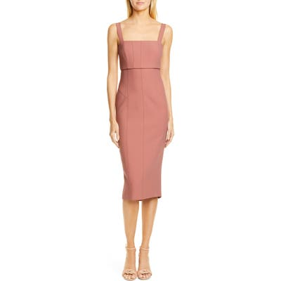 Cinq A Sept Dakota Back Cutout Body-Con Midi Dress, Pink
