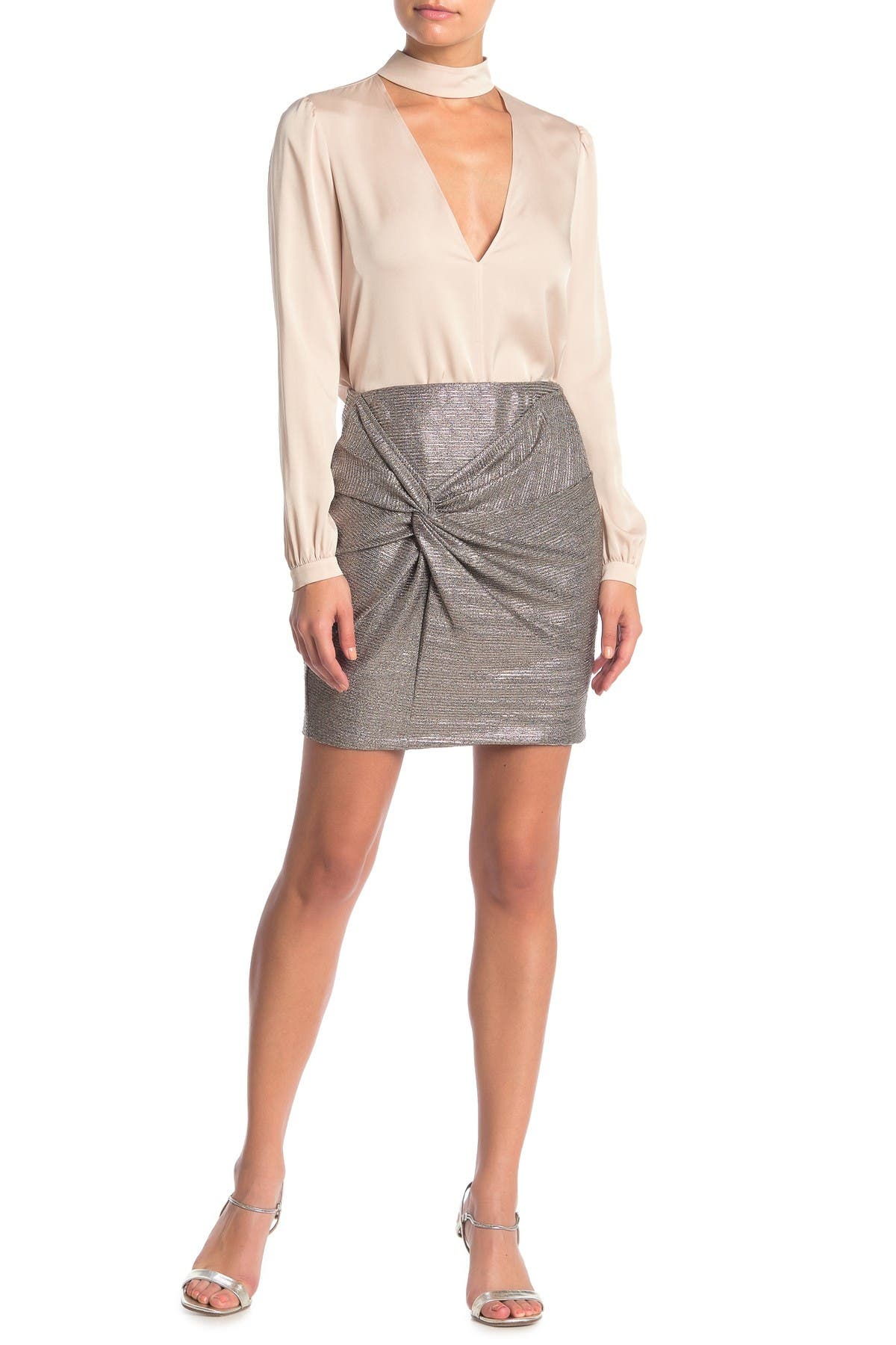 Image of Elodie Twist Front Mini Skirt