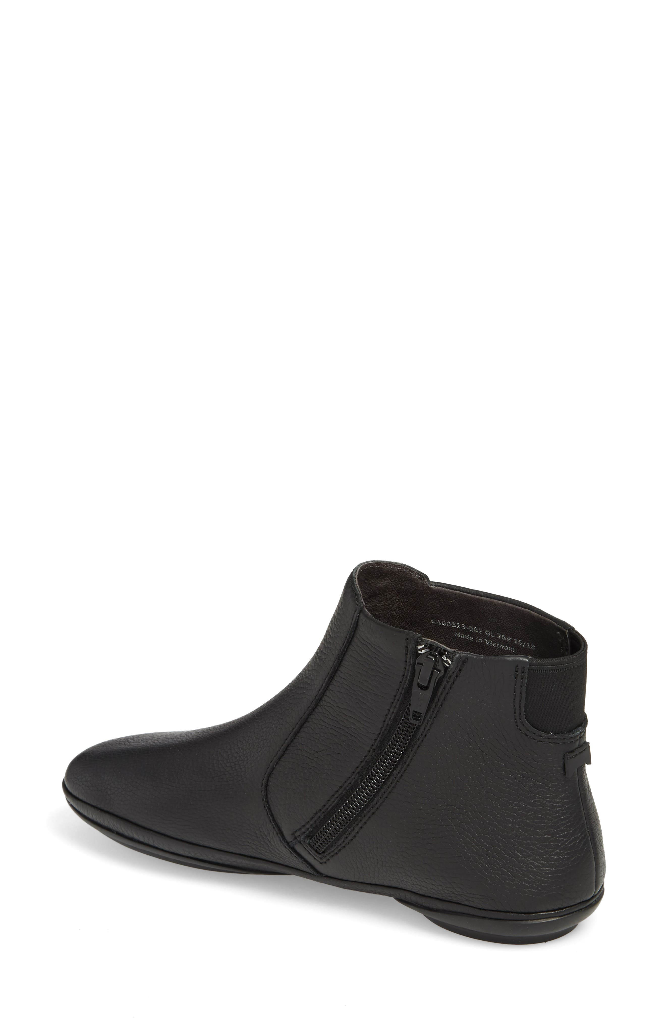 ,                             Right Nina Bootie,                             Alternate thumbnail 2, color,                             BLACK LEATHER