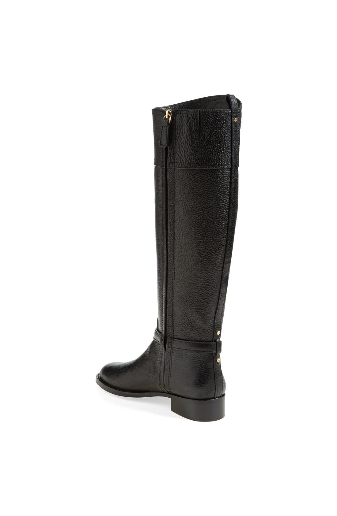 ,                             'Marlene' Leather Riding Boot,                             Alternate thumbnail 5, color,                             001