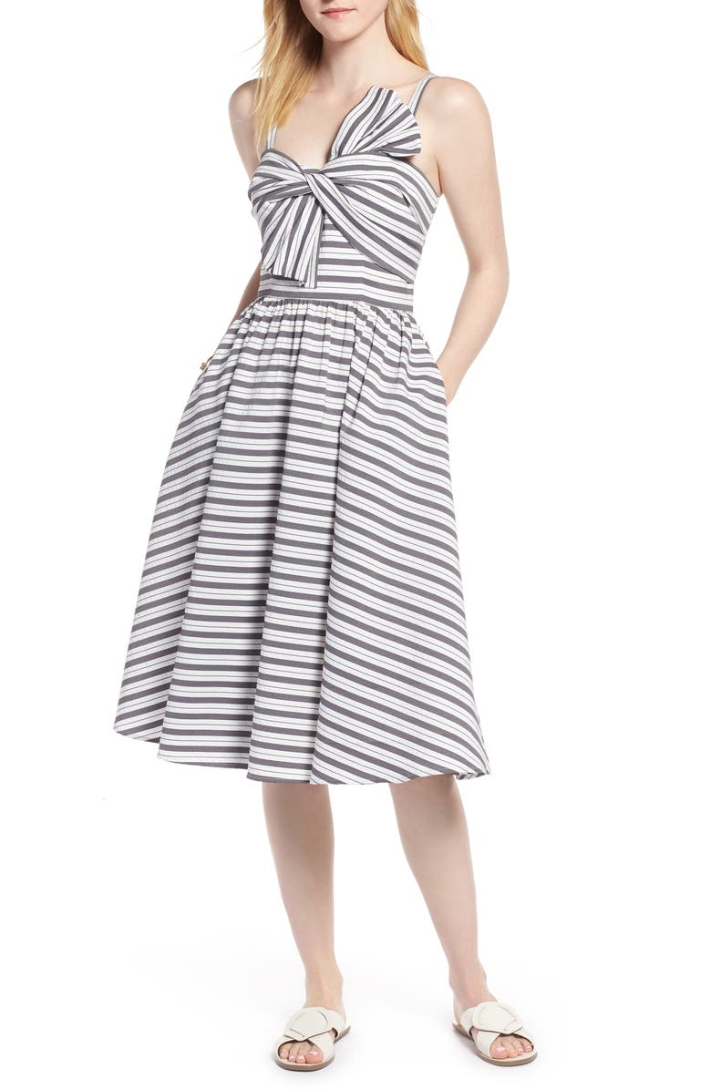 1901 Stripe Bow Front Sundress, Main, color, 030