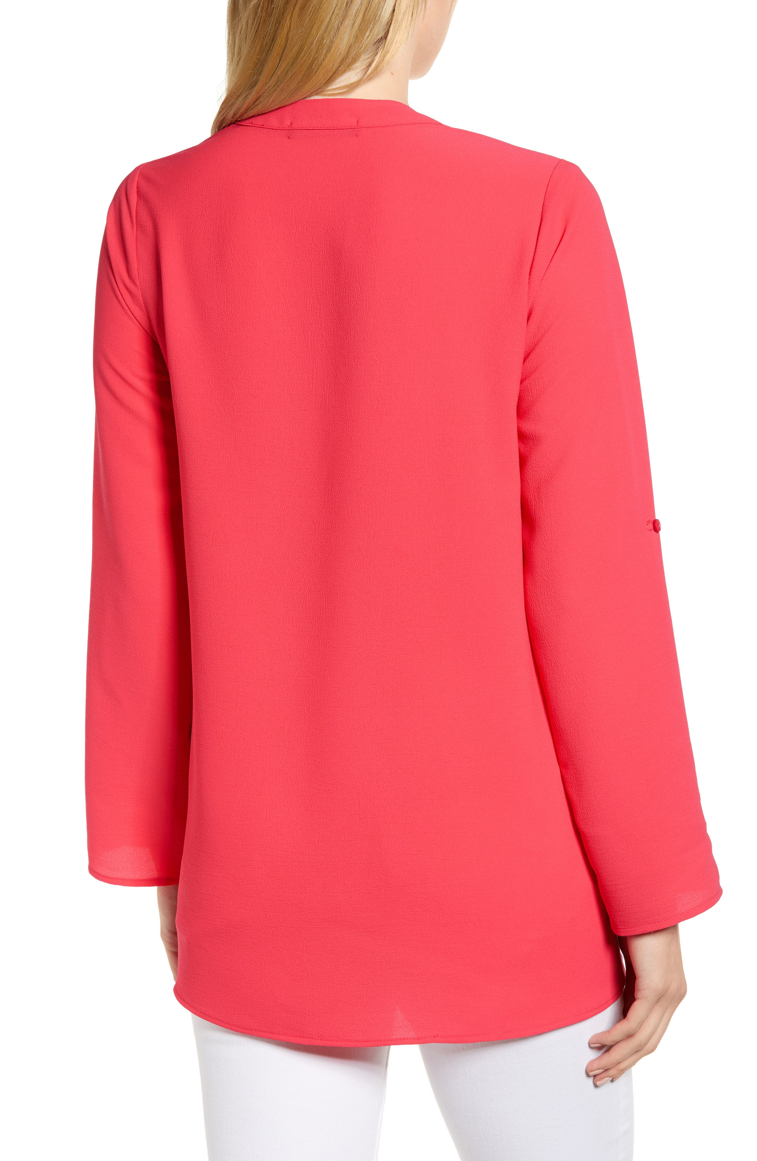 ,                             x International Women's Day Erin Cross Front Tunic Blouse,                             Alternate thumbnail 67, color,                             651