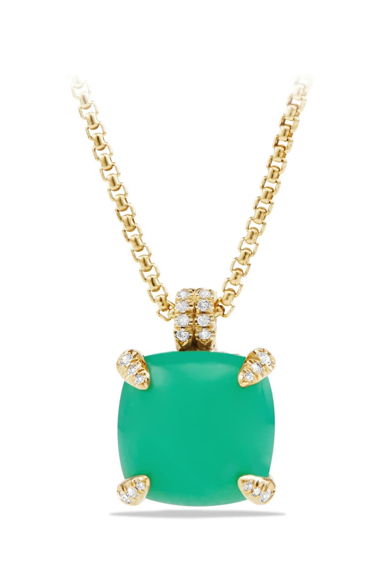 DAVID YURMAN 'Châtelaine' Pendant Necklace with Diamonds in 18K Gold, Main, color, 300