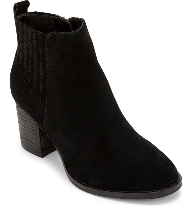 BLONDO Noa Waterproof Bootie, Main, color, BLACK SUEDE