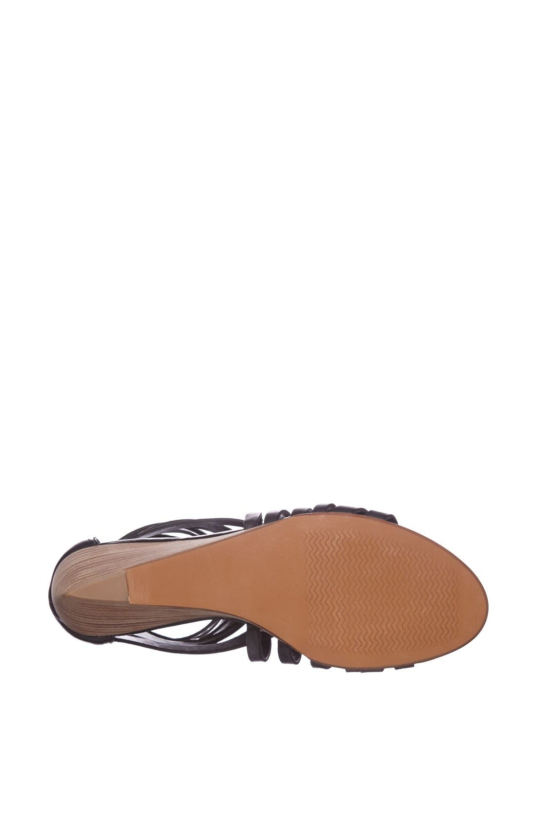 ,                             'Neta' Leather Wedge Sandal,                             Alternate thumbnail 2, color,                             001