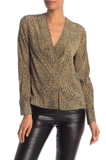 Image of Rag & Bone Shields Leopard Print Silk Top
