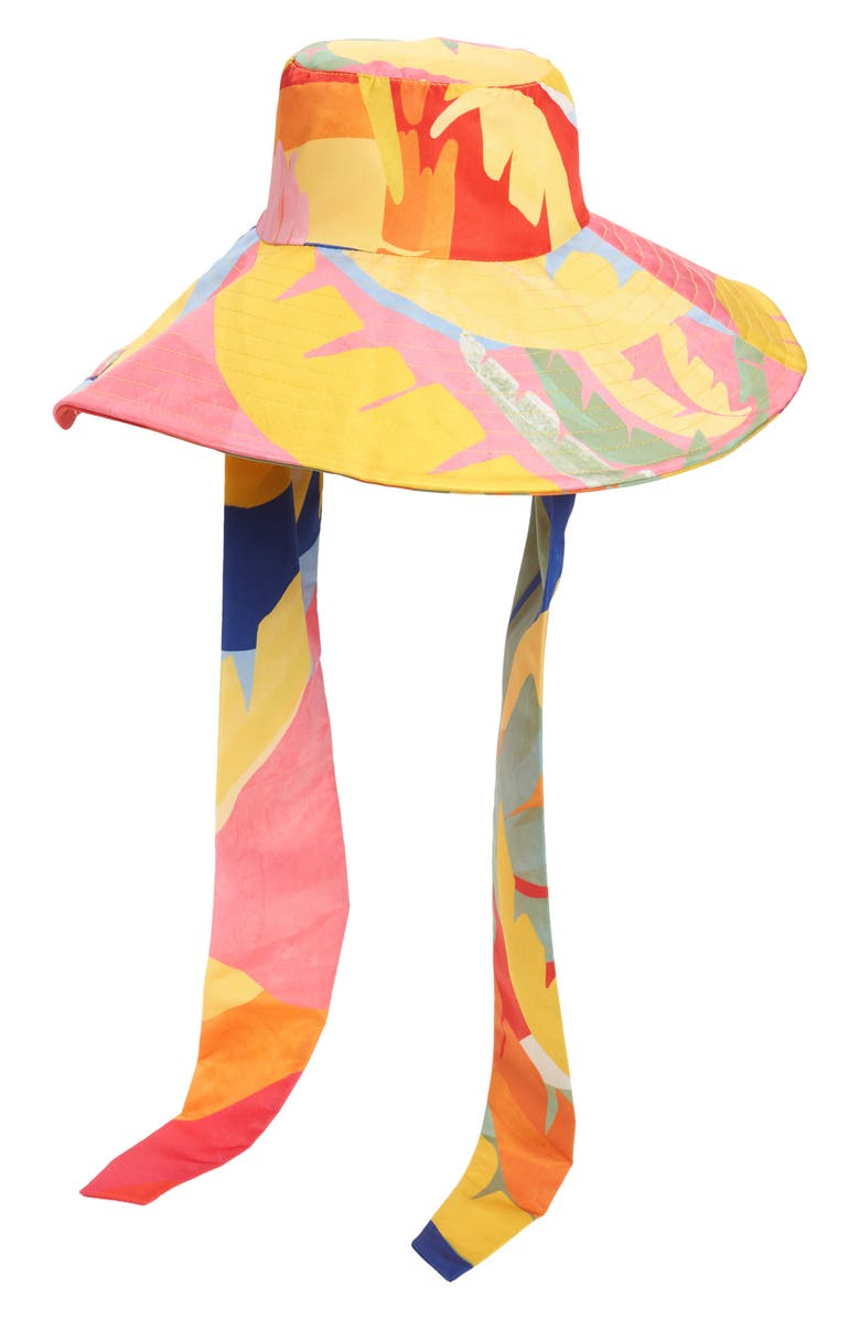 FARM RIO Tropical Sunset Hat, Main, color, TROPICAL SUNSET