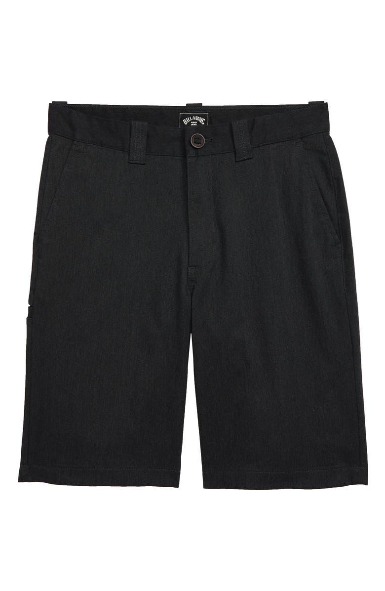 BILLABONG Carter Stretch Shorts, Main, color, BLACK HEATHER