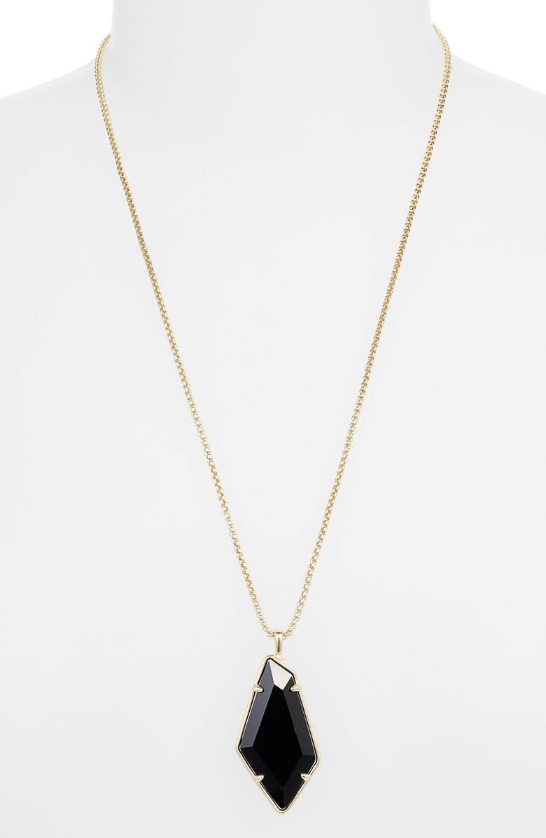 KENDRA SCOTT Lilith Adjustable Pendant Necklace, Main, color, GOLD/ BLACK