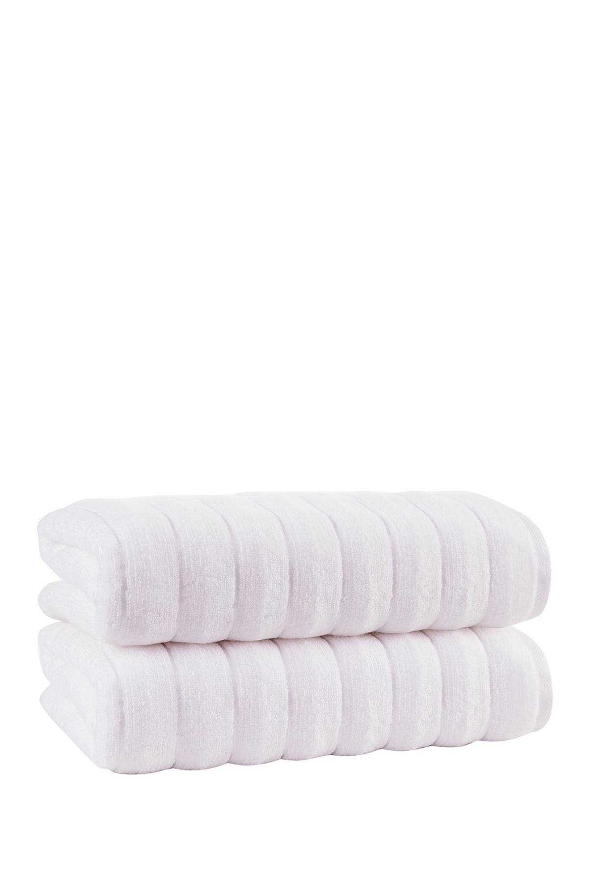 Enchante Home Vague Turkish Cotton Bath Sheet White Set Of 2 Nordstrom Rack