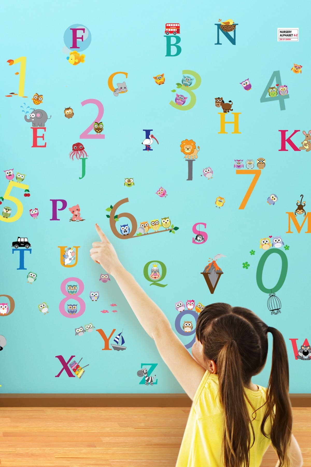 Image of WalPlus Alphabet & Number Decal