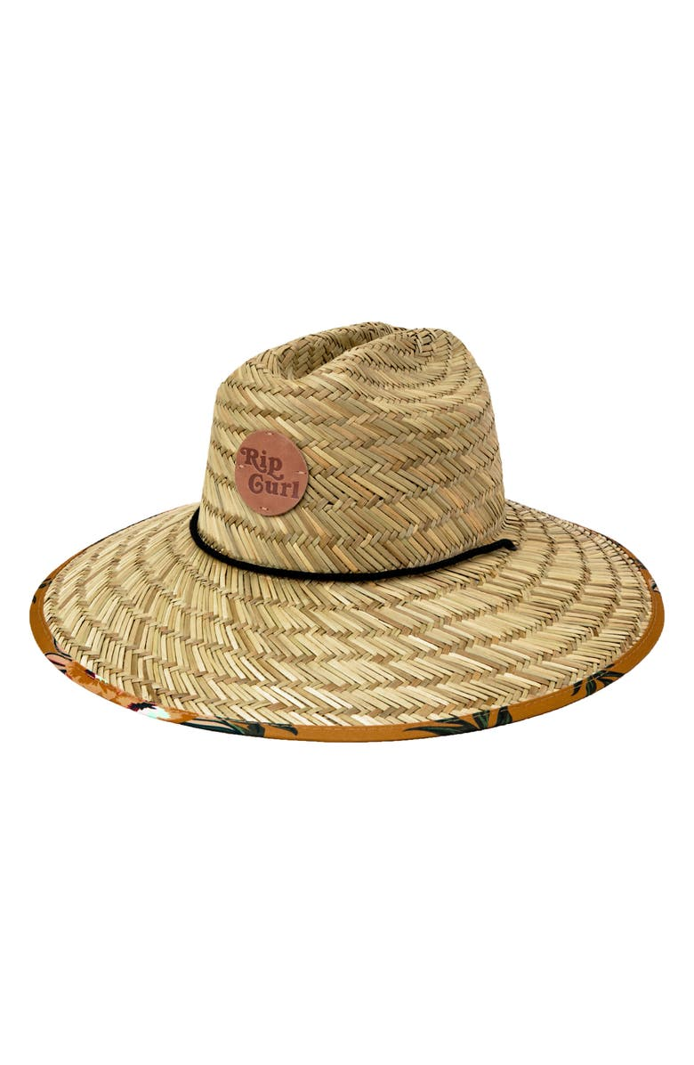 RIP CURL Sunchasers Straw Sun Hat, Main, color, MUSTARD