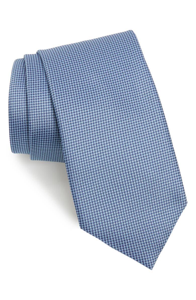 BRIONI Solid Silk Tie, Main, color, LIGHT BLUE