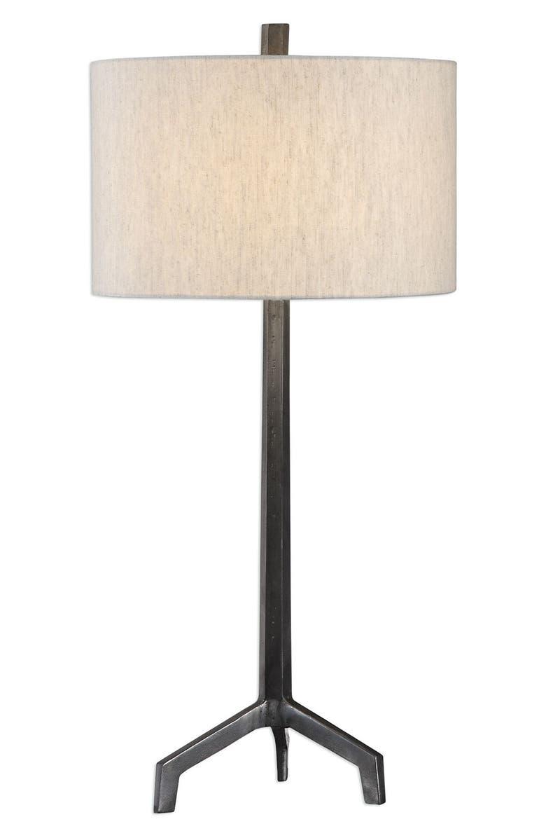 UTTERMOST Ivor Table Lamp, Main, color, BLACK