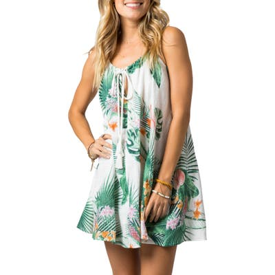 Rip Curl Morning Sky Cover-Up Swing Dress, White