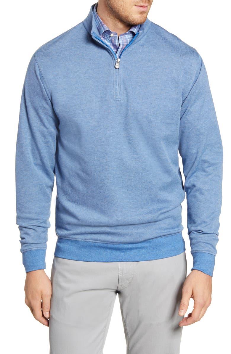 PETER MILLAR Crown Comfort Quarter Zip Pullover, Main, color, CHESAPEAKE