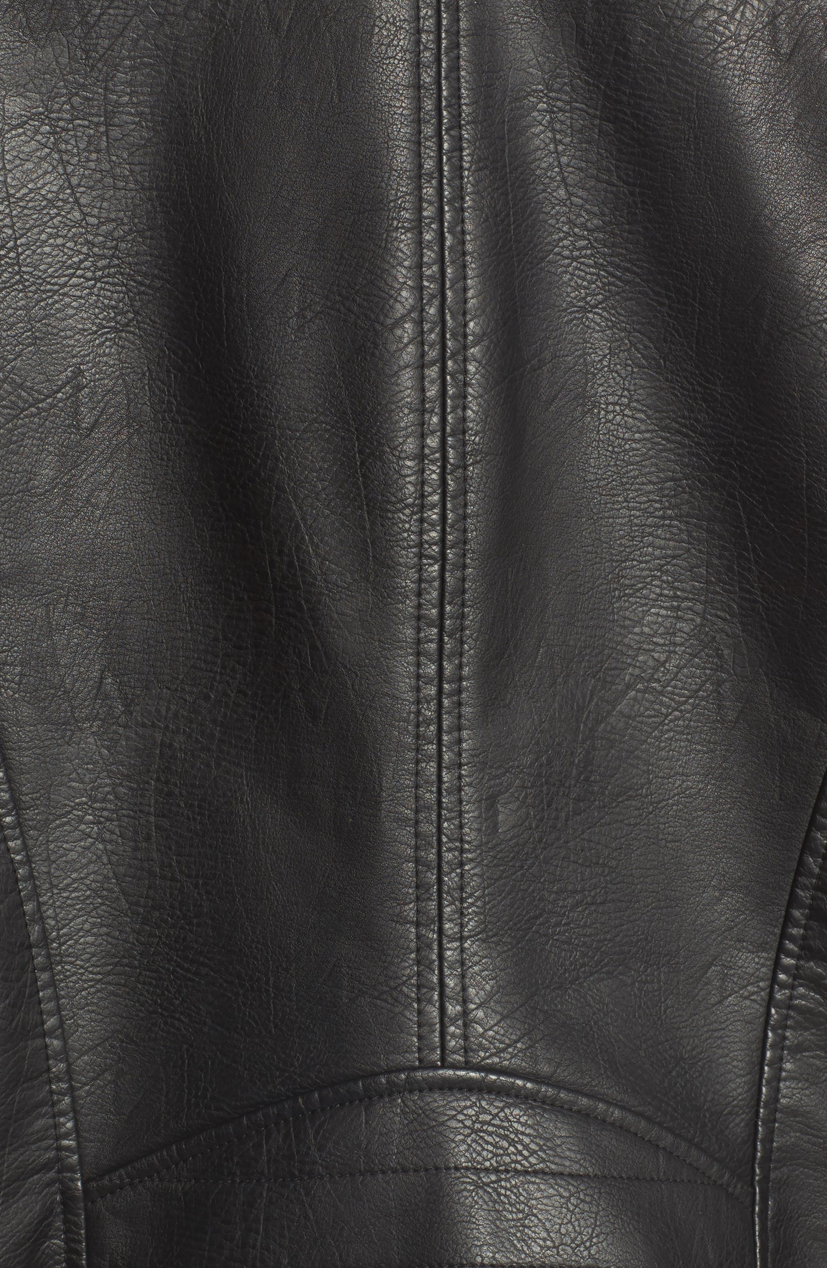 ,                             Faux Leather Moto Jacket,                             Alternate thumbnail 24, color,                             001