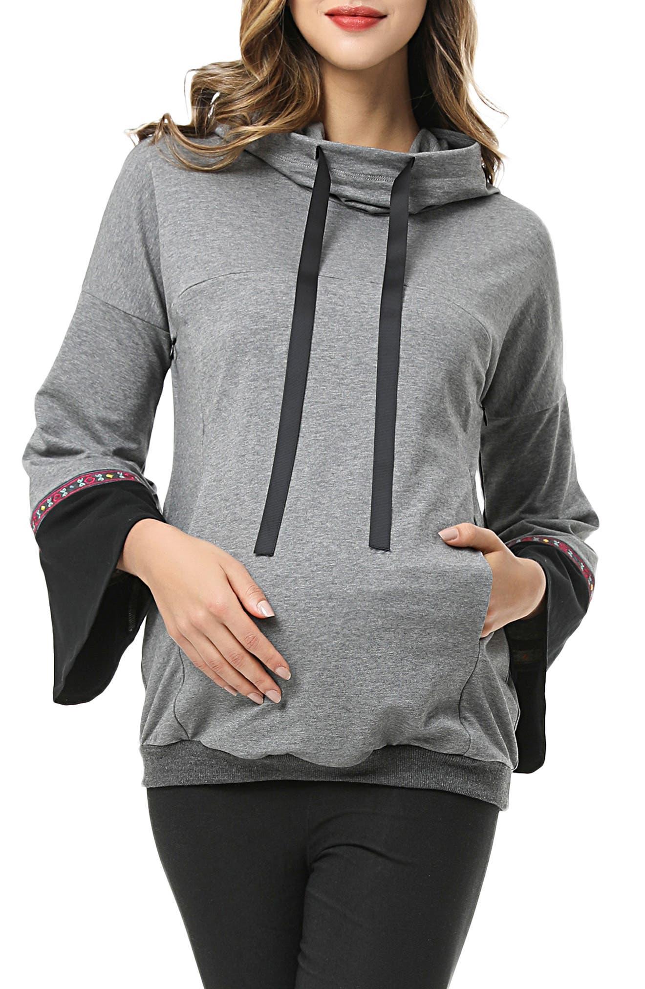 Layla Cowl Neck Maternity/nursing Hoodie