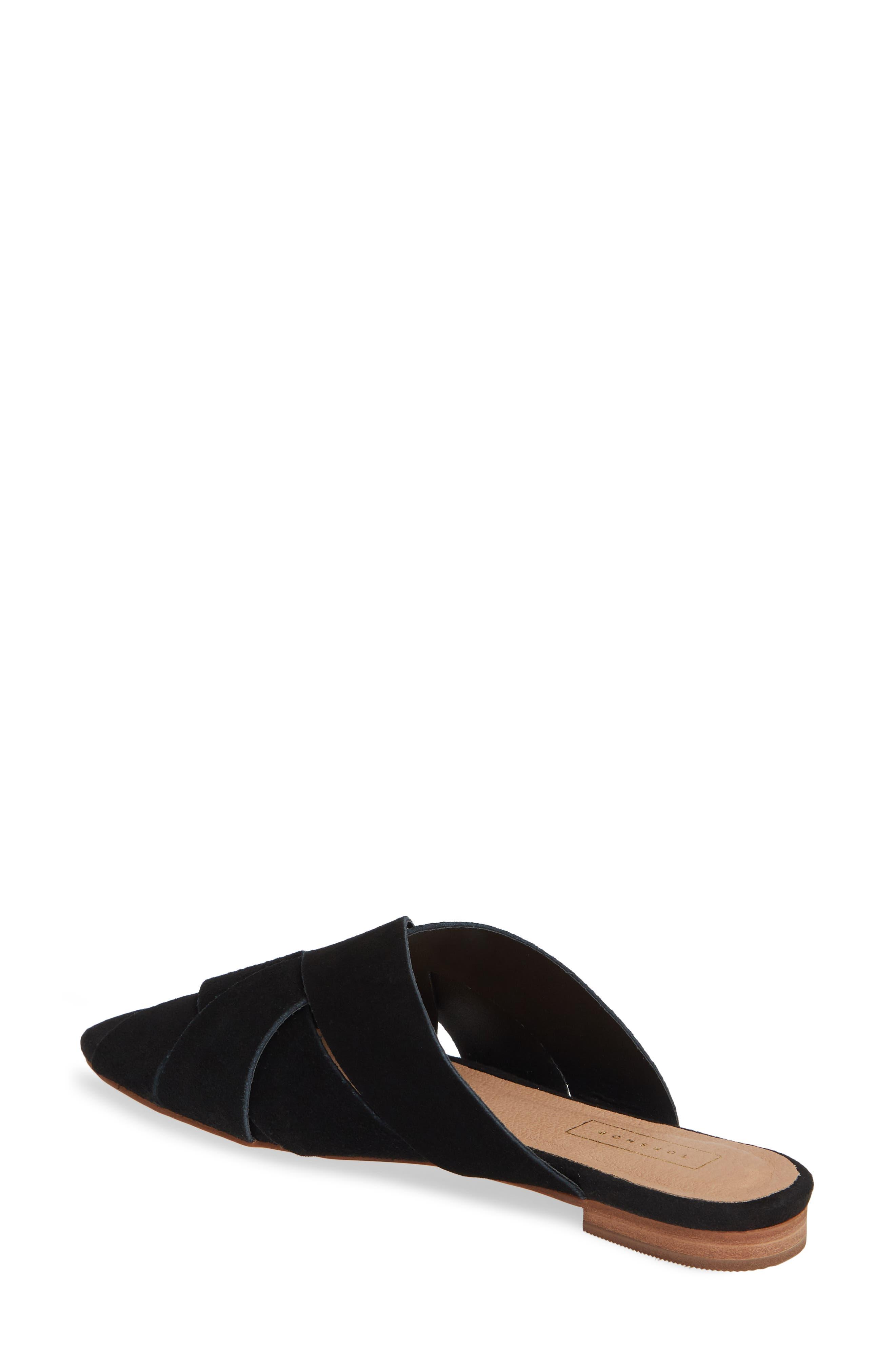 ,                             Hop Cross Slide Sandals,                             Alternate thumbnail 2, color,                             BLACK