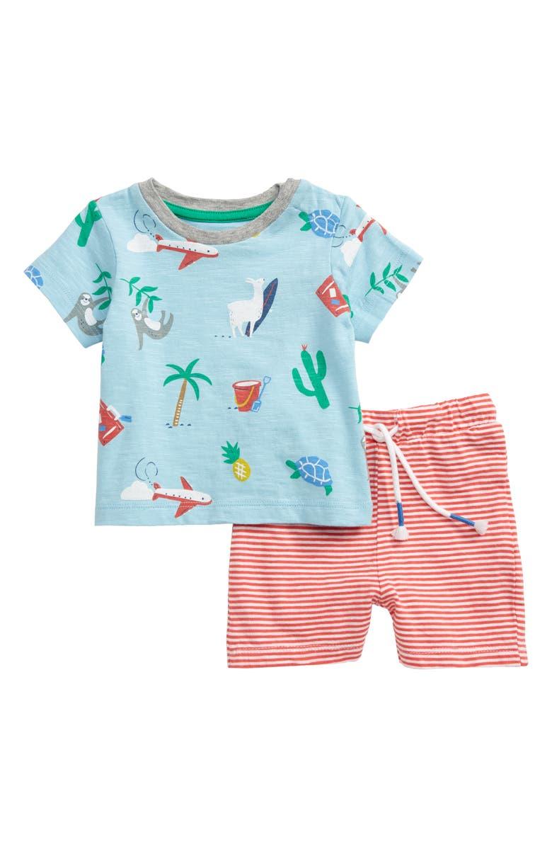 MINI BODEN Fun Pocket T-Shirt & Shorts Set, Main, color, 440