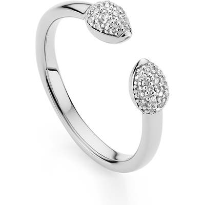 Monica Vinader Fiji Bud Diamond Stack Ring