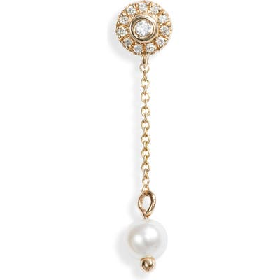 Dana Rebecca Designs Pearl Ivy Mini Halo Linear Earrings