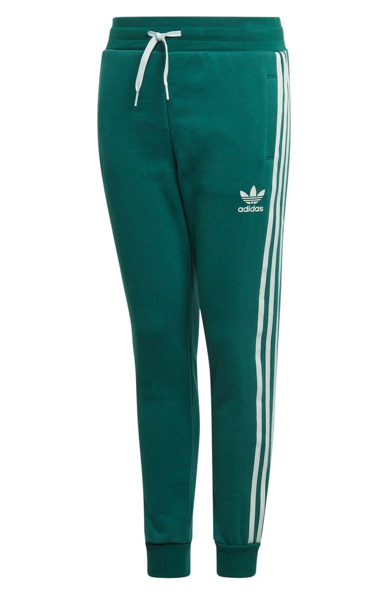 ADIDAS 3-Stripes Sweatpants, Main, color, CGREEN/ VAPGRN