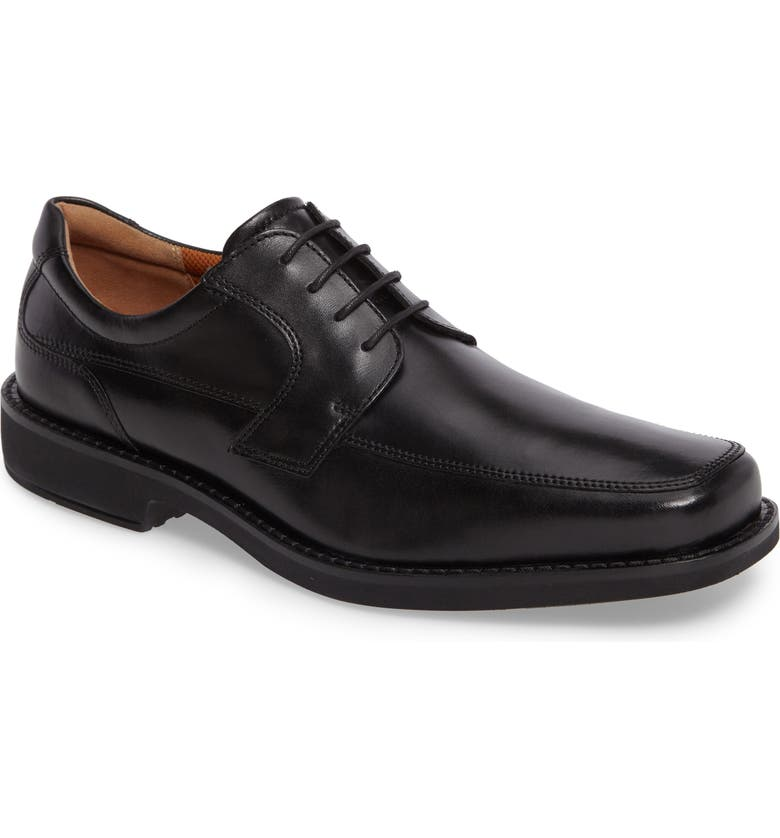 ECCO Seattle Moc Toe Derby, Main, color, BLACK LEATHER