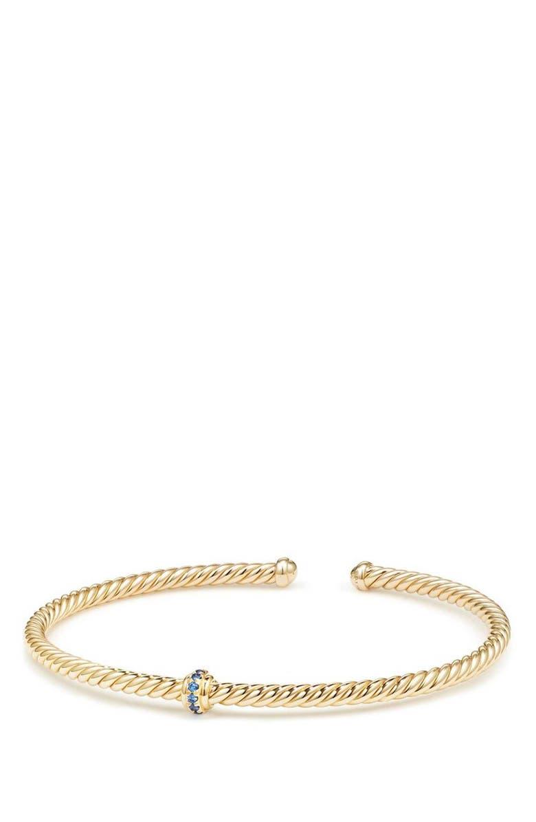 DAVID YURMAN Renaissance Center Station Bracelet with Diamonds in 18K Gold, 3mm, Main, color, 400