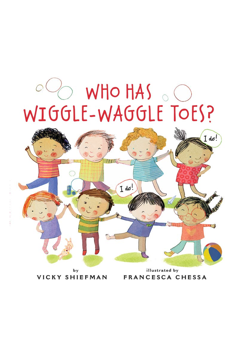 PENGUIN RANDOM HOUSE 'Who Has Wiggle-Waggle Toes' Book, Main, color, WHITE