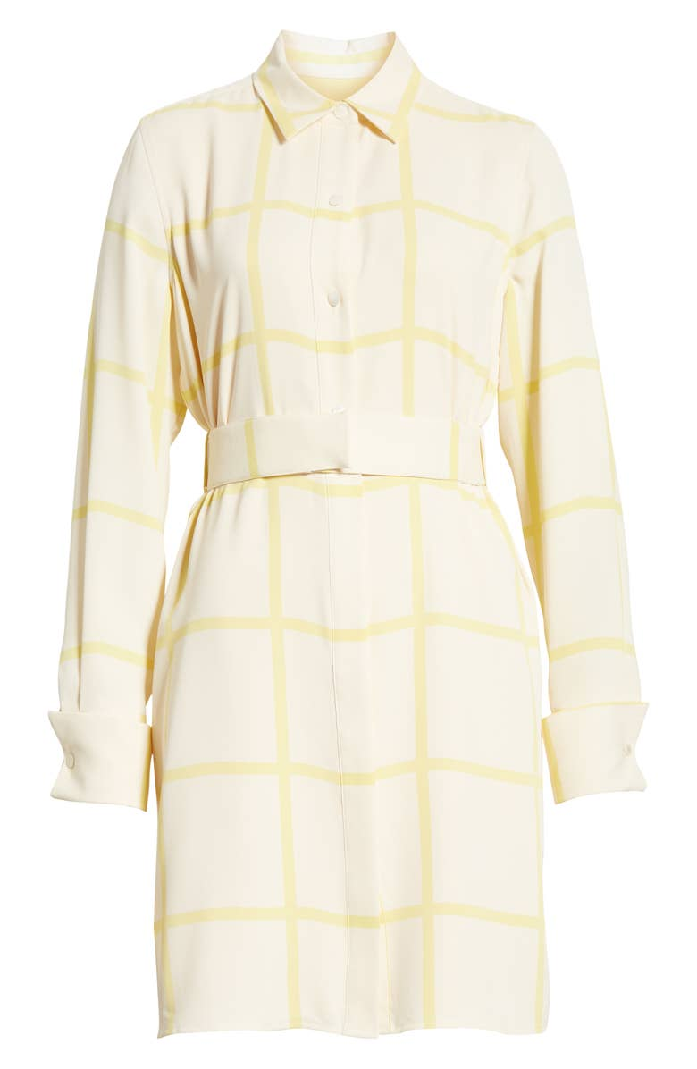 Checkered Lemon Shirt Dress