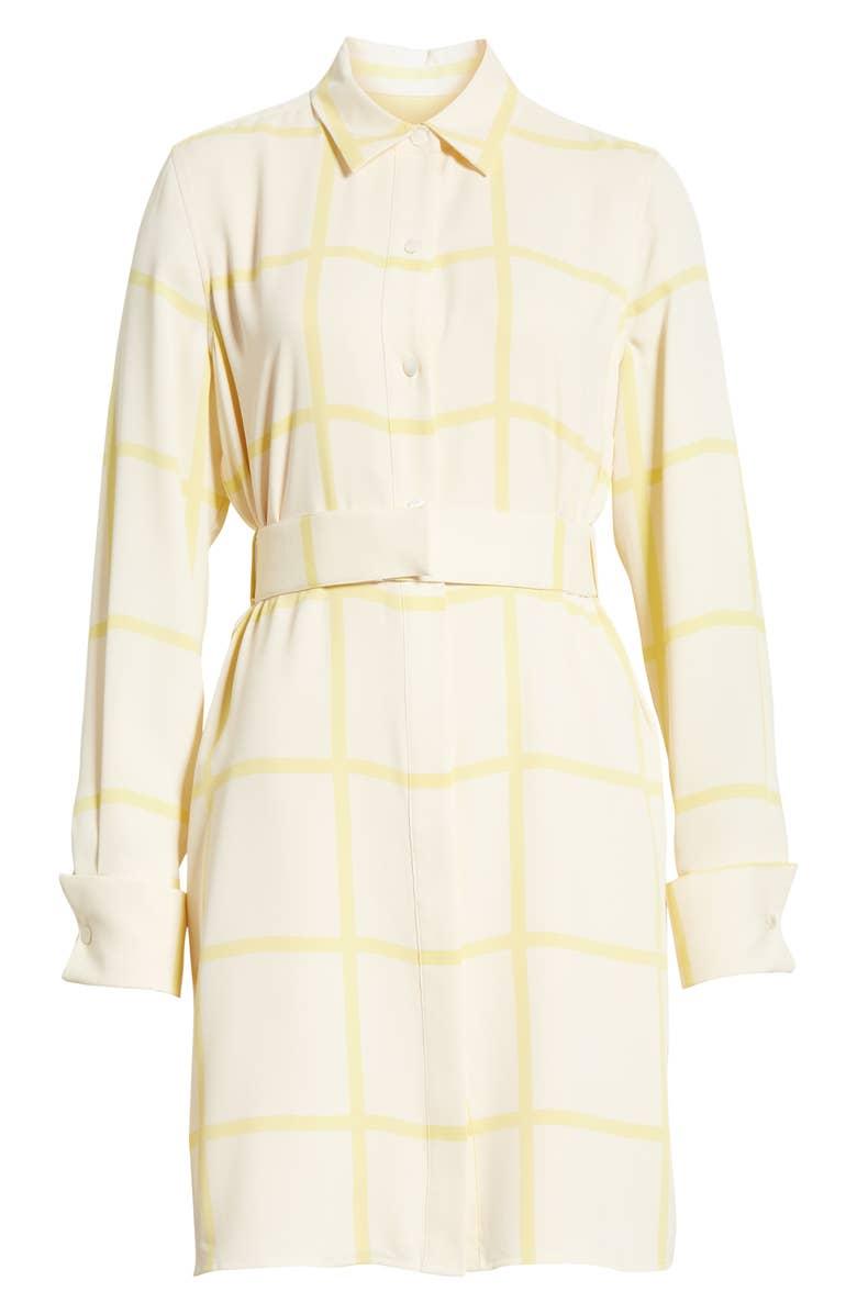 Checkered Lemon Shirt Dress
