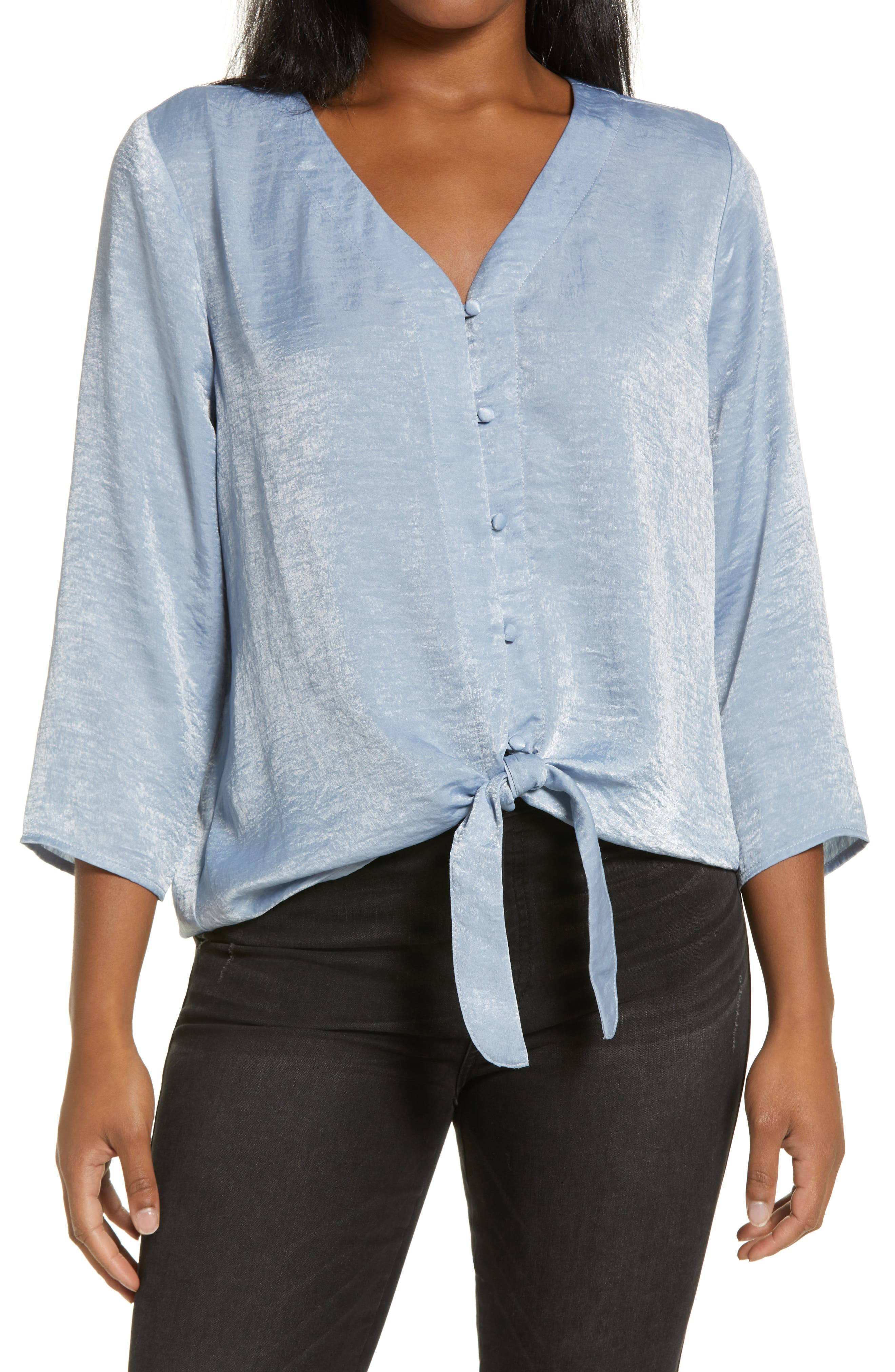 Lucille Tie Front Top