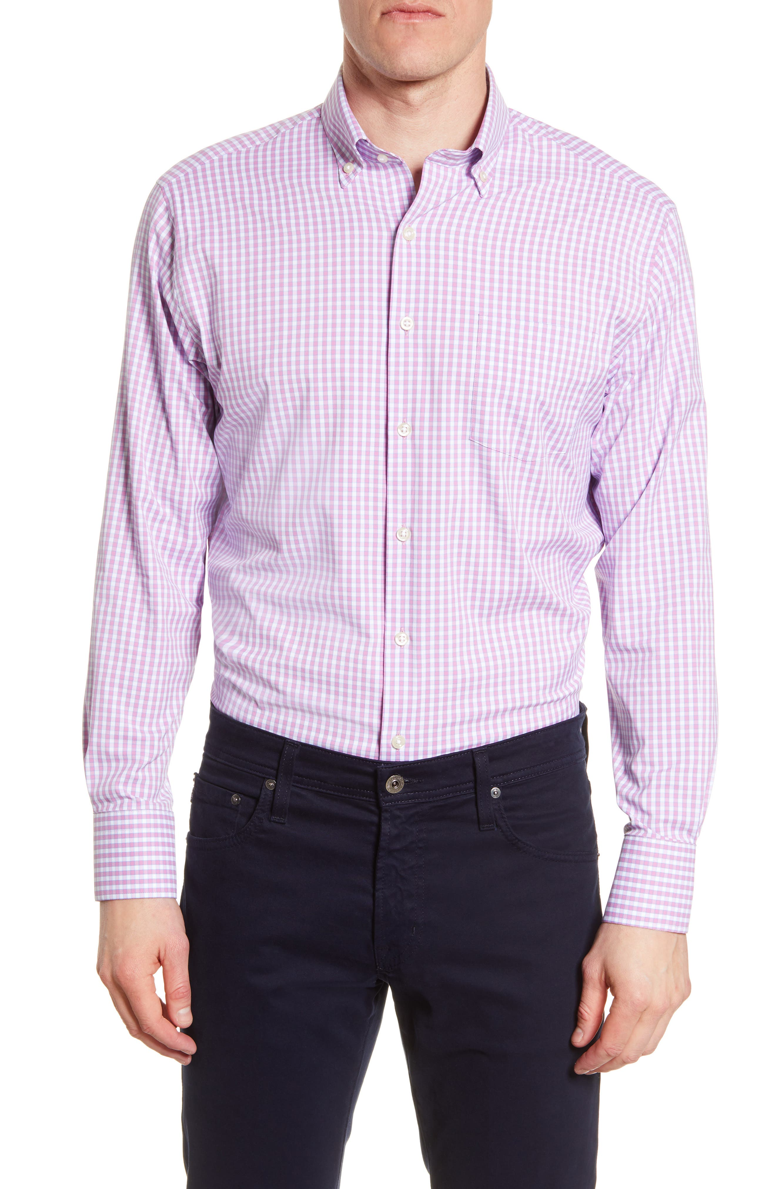 Image of Peter Millar Classic Fit Perfomance Check Shirt