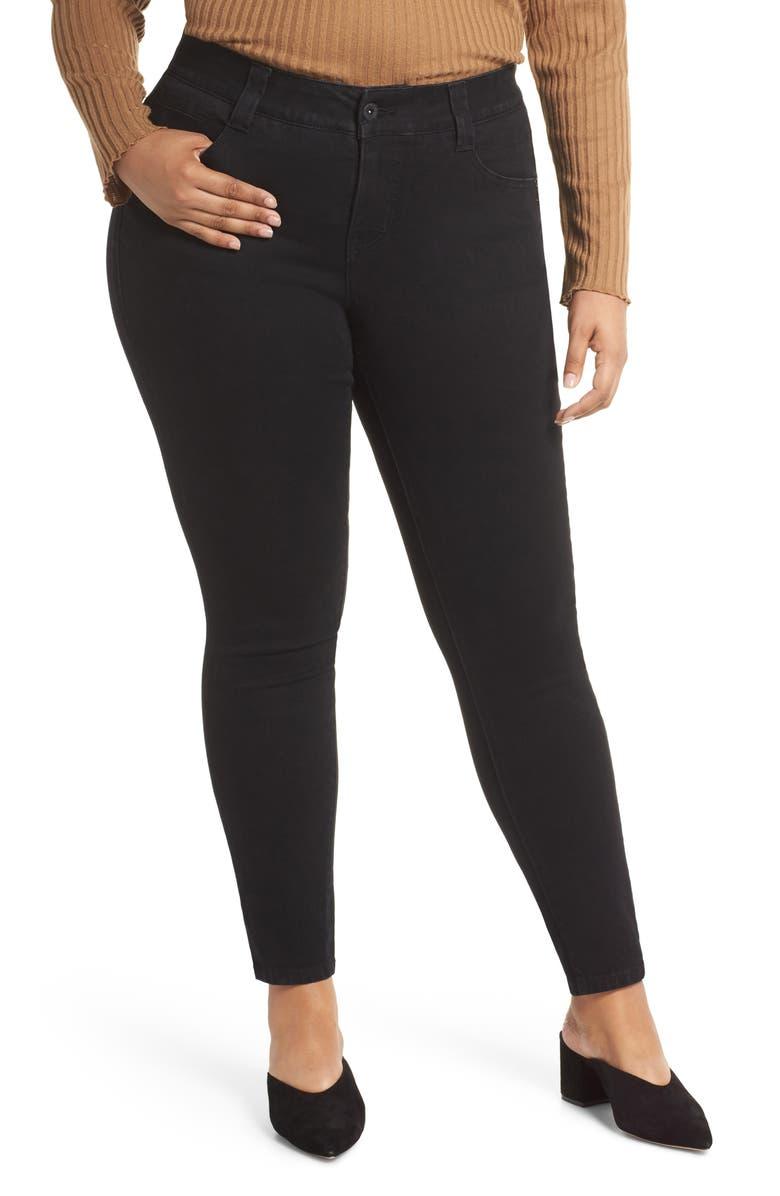 JAG JEANS Cecilia Stretch Skinny Jeans, Main, color, BLACK