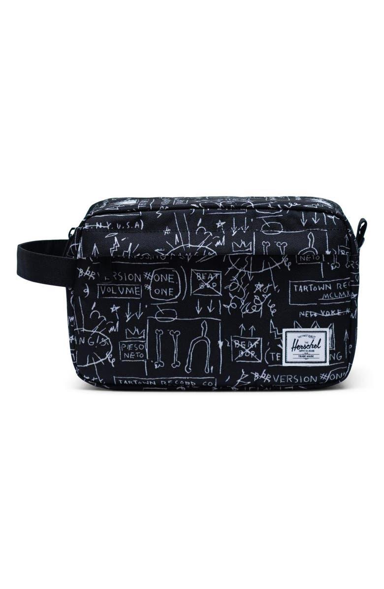 HERSCHEL SUPPLY CO. Chapter Basquiat Dopp Kit, Main, color, BASQUIAT BEAT BOP