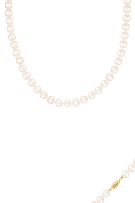 Image of Splendid Pearls 14K Gold 9-10mm White Freshwater Pearl Necklace